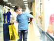 Little boy doing shopping