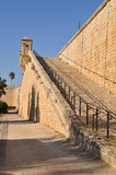 Wall of Acre fortifications. Israel.