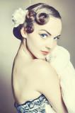 Fototapety Vintage bride posing