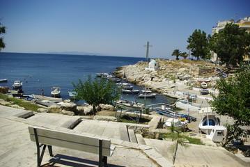 The Mediterranean sea from Piraeus coast, Greece