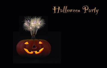 Cartel anunciador  fiesta de halloween.