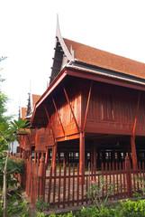 Ancient Thai house .