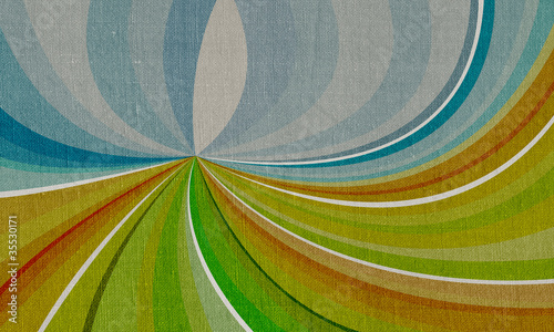 Abstract landscape on canvas