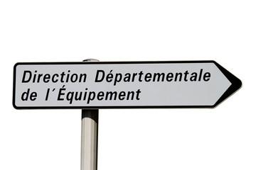 Panneau directionnel de la DDE