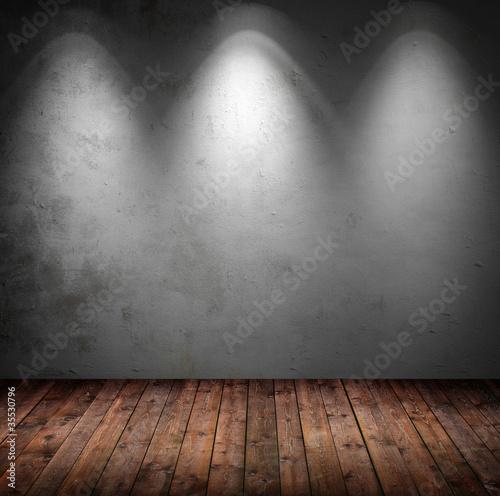 Innenraum mit 3 Spots