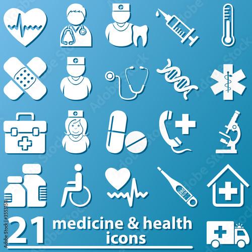 Medizin und Gesundheit - Icons