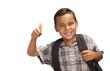 Happy Young Hispanic School Boy with Thumbs Up