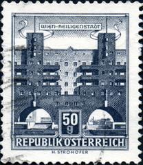 Vienna, Wien Heiligenstadt. Timbre postal.