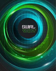 Swirl vector abstract background
