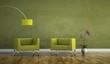 Wohndesign - grüne Sessel