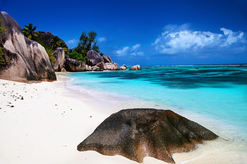 Beautiful beach Anse source d'Argent