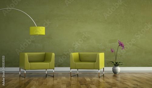 wohndesign gr ne sessel stockfotos und lizenzfreie. Black Bedroom Furniture Sets. Home Design Ideas