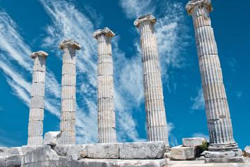 Ruins of Athena temple in Priene, Turkey