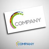 Logo enterprise business # Vector poster