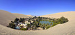 Panorama of Huacachina Oasis near Ica Peru