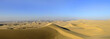 Panorama of Sand Dune Desert in Peru