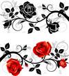 Fototapeten,rosé,rot,silhouette,ornament