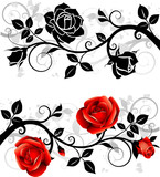 Fototapety Ornament with roses