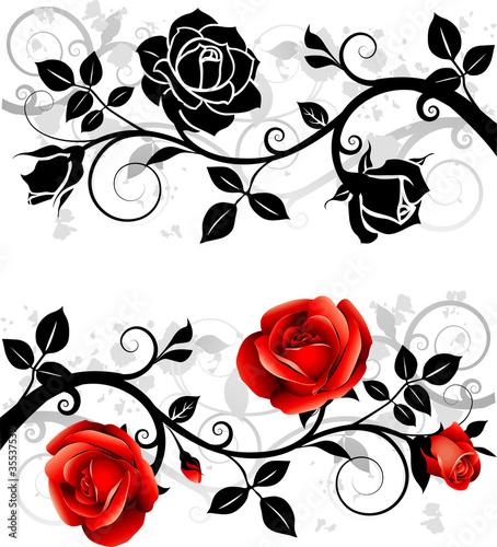 Fototapeten,rose,rot,silhouette,ornament