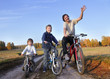 family on bike