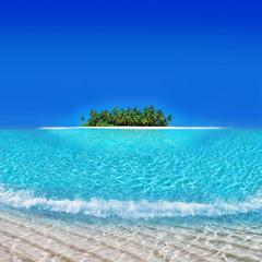 Tropical Atoll Island