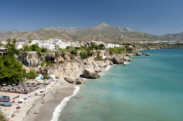 Beach at Nerja, Malaga Province, Spain