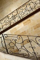 Immobilier, escalier, patrimoine, palais, fer forgé, ferronerie