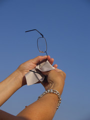 Pulizia occhiali