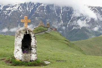 Church and chapel in Caucasus, Georgia
