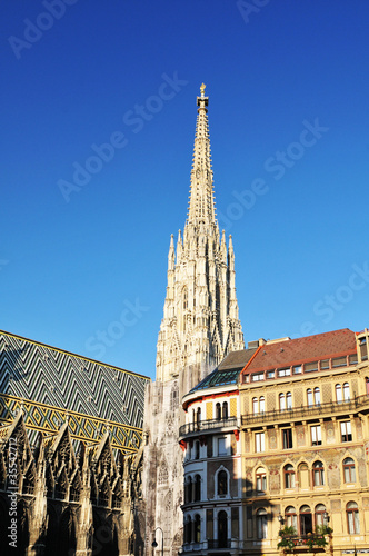 Beautiful cathedral in Vienna, Austria
