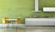 Wohndesign - Wohnküche grün