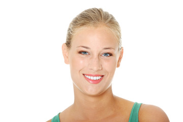 Happy young blond woman