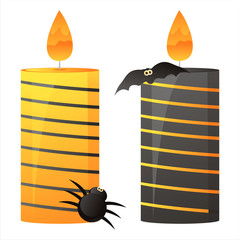 set of 2 halloween candles