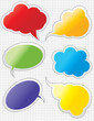 Scrapbook Speech Bubbles