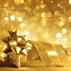Christmas background in gold