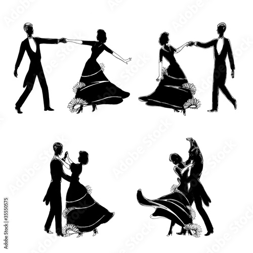 elegant dancers illustration