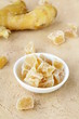 candied ginger and fresh ginger