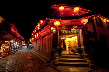 Beautiful night light in Lijiang Ancient town, Yunnan China