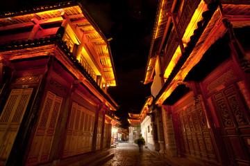 Beautiful Night scene in Lijiang old town , Yunnan China
