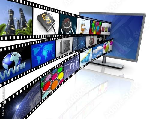Bildschirm mit Film