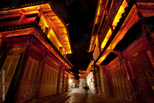 Beautiful Night scene in Lijiang old town , Yunnan China