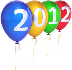 New 2012 Year party balloons decoration multicolored