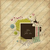 Scrap template with elements