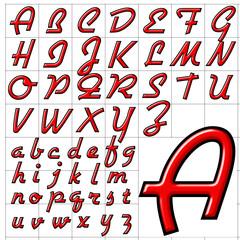 abc alphabet background airstream design