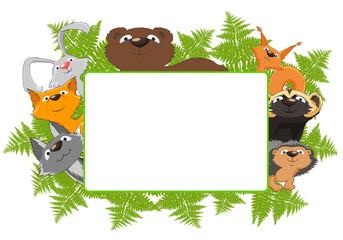 рамка с лесными зверями
