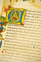Gutenburg Bible detail