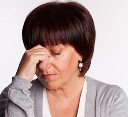 Sadness mid woman