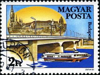Budapest; Magyar Posta. Hongrie. Timbre postal.