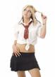 Pretty teenage school girl