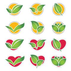 set of eco symbol